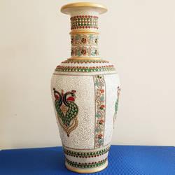 Meenakari marble vase size - 10x18In - 10x18