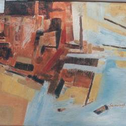 Abstract -5 size - 40x30In - 40x30