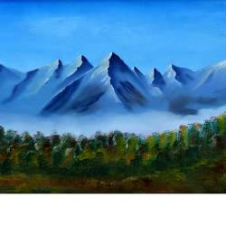 The Mountain calling size - 12x20.6In - 12x20.6
