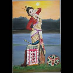 Assamese Bihu Dance size - 24x36In - 24x36