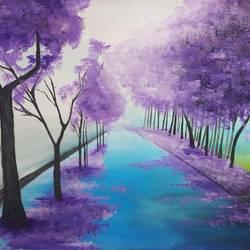 Purple avenue size - 18x24In - 18x24