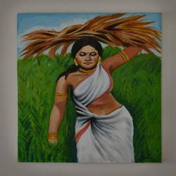 Indian Village Women size - 30x32In - 30x32