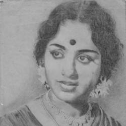 Actress K.R.Vijaya size - 8.3x11.7In - 8.3x11.7