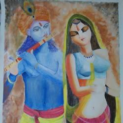Radha Krishna size - 27x43.5In - 27x43.5