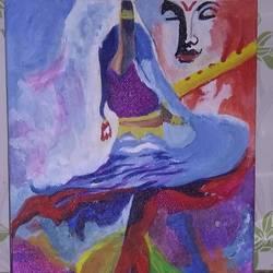 Radhe krishna size - 20x25In - 20x25