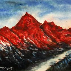 Mountain-7 size - 15x11In - 15x11