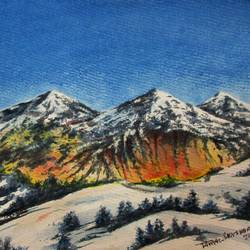 Mountain-5 size - 15x11In - 15x11