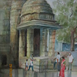 ambernath shiva temple size - 14.4x21.4In - 14.4x21.4