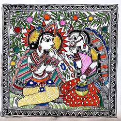 Folk-a-Holic Madhubani painting size - 12x12In - 12x12