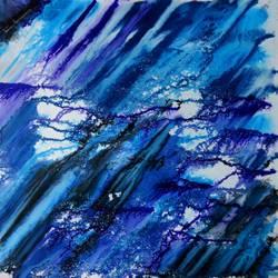 Blue Wind size - 22x22In - 22x22