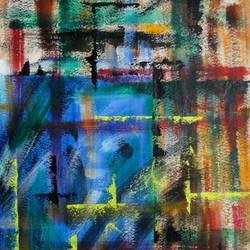 Blue Wall size - 14x21In - 14x21