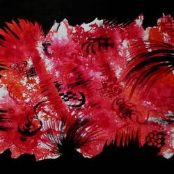 Fire in Forest size - 21x14In - 21x14