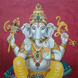 Lord Ganesha size - 30x40In - 30x40