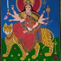 Durga Maa size - 22x31In - 22x31