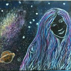 Moon-face size - 36x24In - 36x24