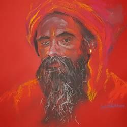 Hindu Saint  size - 16.53x11.69In - 16.53x11.69