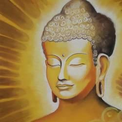 Buddha In meditation size - 11.69x16.53In - 11.69x16.53