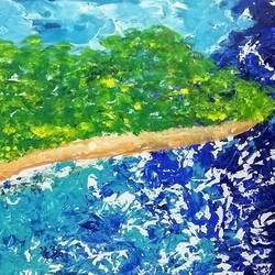 The beach size - 36x24In - 36x24