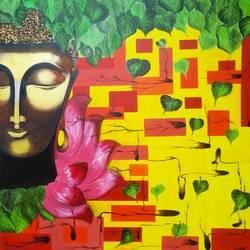 Buddha II size - 36x36In - 36x36