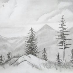 Forest Landscape size - 16.5x11.7In - 16.5x11.7
