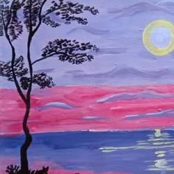 THE TREES AND THE SEA size - 15.7x12In - 15.7x12