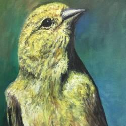 Birds- Portrait of Innocence size - 12x18In - 12x18