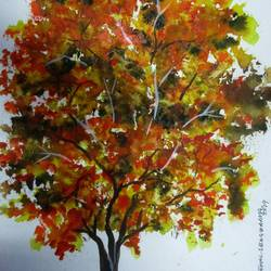Tree of Duars-9 size - 9x12In - 9x12