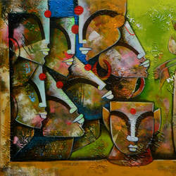 Bonding Of Eternal Love 4 size - 66x30In - 66x30