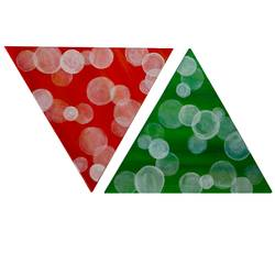 Triangular bubbles size - 10x10In - 10x10