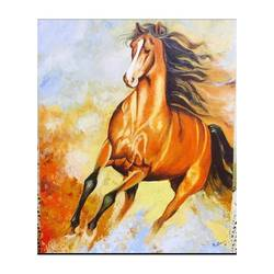 Running horse  size - 18x20In - 18x20