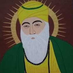 Guru Nanak Devji size - 14x20In - 14x20