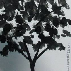 Tree of Duars at night-3 size - 5.5x11.75In - 5.5x11.75