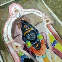 lord murugar painting size - 11x16In - 11x16