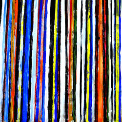 COLOR ABSTRACTION-6 size - 40x20In - 40x20