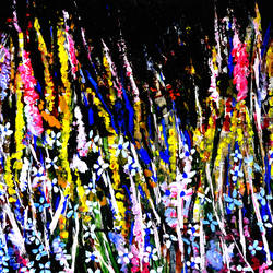 COLOR ABSTRACTION-5 size - 40x20In - 40x20