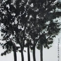 Tree of Duars at night-17 size - 5.5x11.75In - 5.5x11.75