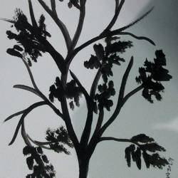 Tree of Duars at night-19 size - 5.5x11.75In - 5.5x11.75