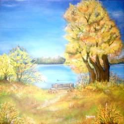 peaceful nature size - 27.5x27.5In - 27.5x27.5