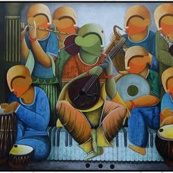 musical band -2  size - 84x72In - 84x72