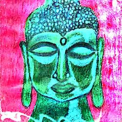 Lord Buddha - Source of Happiness size - 11x15In - 11x15