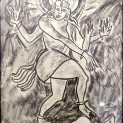Shiva tandava size - 13x19In - 13x19
