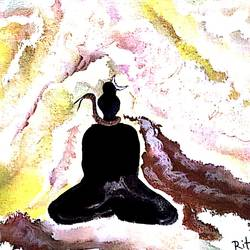Lord Shiva in meditation size - 20x16In - 20x16