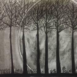 Dark forest size - 11x6In - 11x6