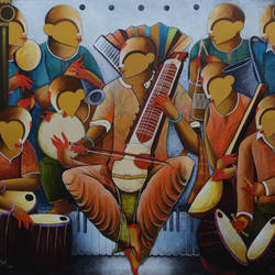 The Musical Band 5 size - 72x60In - 72x60