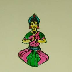Bharatnatyam dancer size - 10x5In - 10x5