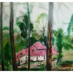 Lansdowne Cottage size - 34x24In - 34x24
