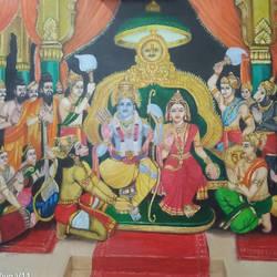 Sri Rama Pattabhishekam size - 30x22In - 30x22