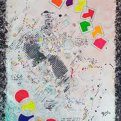 Abstract 106 size - 32x22In - 32x22