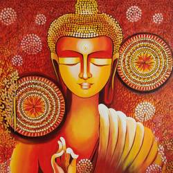 BUDDHA - A JOURNEY TOWARDS ENLIGHTENMENT SERIES: 1 size - 30x40In - 30x40