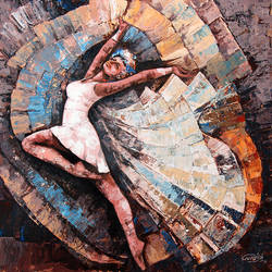 The Poetry of Dancing  size - 18x18In - 18x18